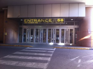 Caesars Bingo Entrance Number 58 from lower parkcade